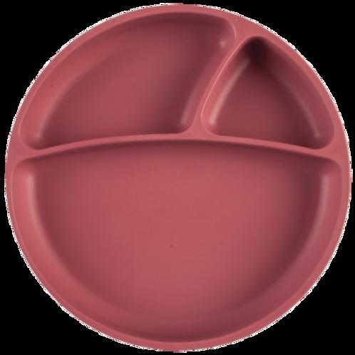 Assiette ventouse en silicone rose - Minikoioi
