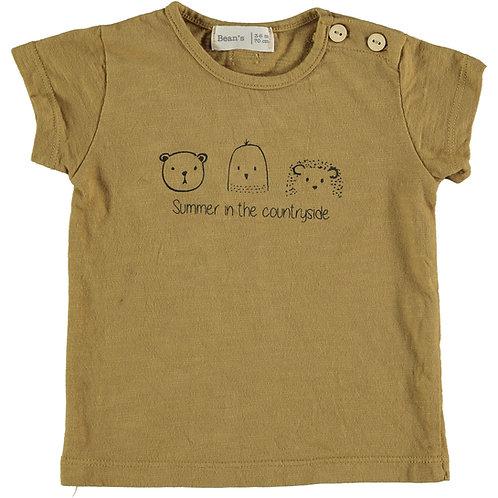 T-shirt animaux mignons 100% coton organique - Bean's Barcelona