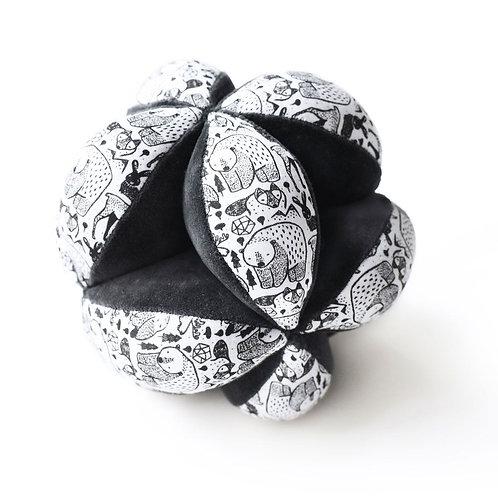 Balle sensorielle puzzle en coton biologique - Wee Gallery - Liste Toma - Van La