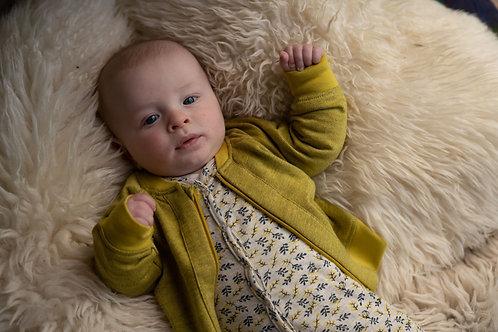 Pyjama imprimé jaune avec pieds - Riffle Amsterdam
