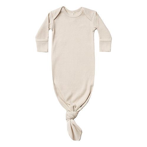 Pyjama Kimono côtelé en coton bio natural - Quincy Mae