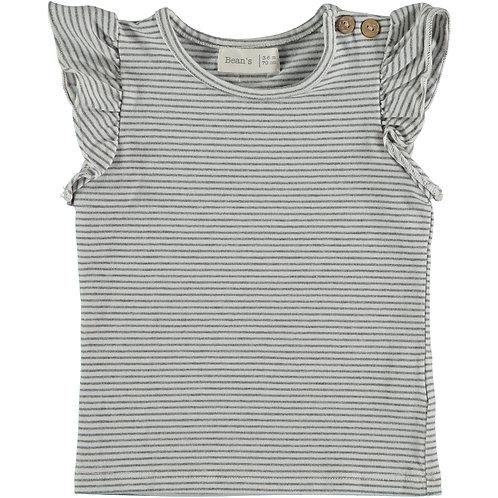 T-shirt sans manches ligné - 100% coton organique - Bean's Barcelona