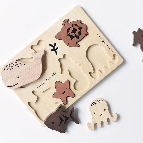 Puzzle en bois 'Ocean' - Wee Gallery
