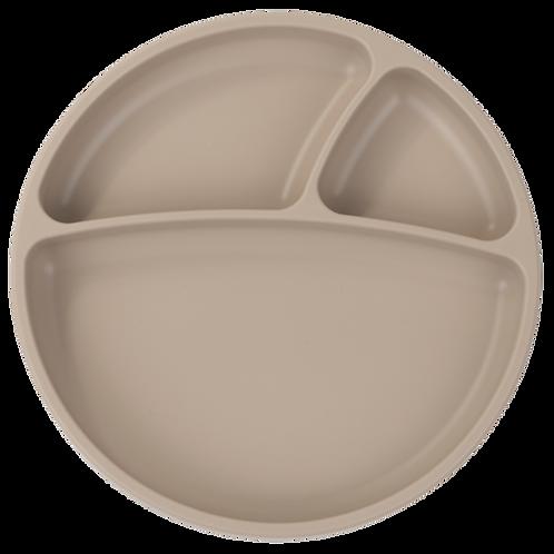 Assiette ventouse en silicone beige - Minikoioi - Liste Toma - Van Landschoot