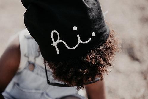 Bonnet 'Hi' noir - Aai Aai