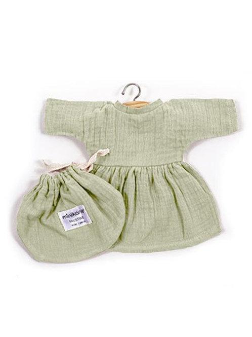 """Robe """"Faustine"""" en coton double gaze pour poupée - Minikane"""