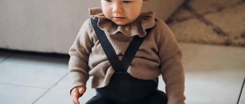 Collants avec bretelles 'Dark Grey' - Petite Zigova