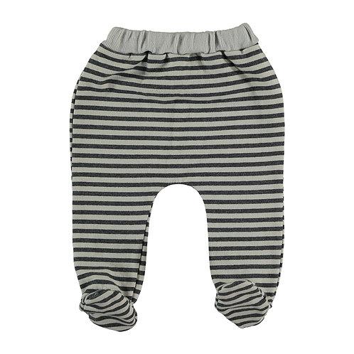 Pantalon avec pieds rayé 100% coton bio - Bean's Barcelona