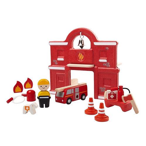 Caserne de pompiers en bois - Plan Toys