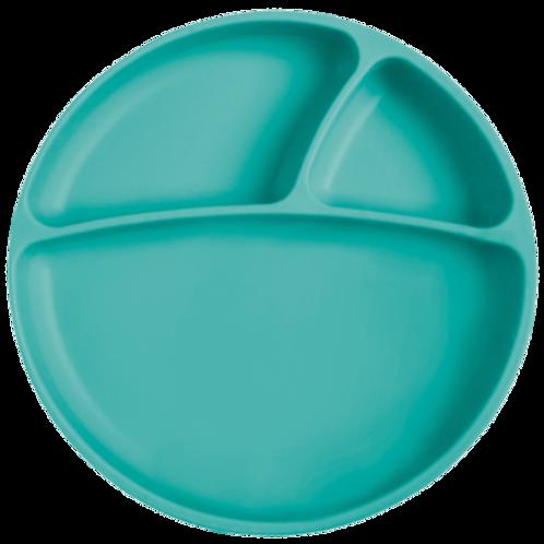 Assiette ventouse en silicone green - Minikoioi