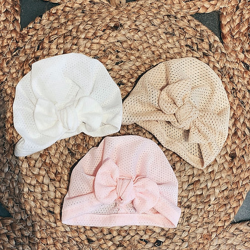 Bonnet turban naissance - Ma Douce Bohème