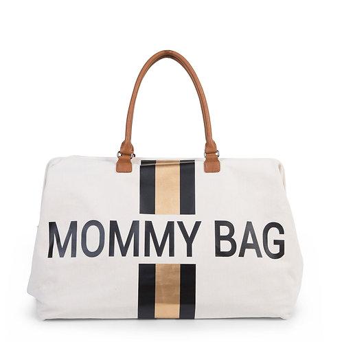 Mommy Bag Sac A Langer -  Blanc rayé black/gold - Childhome