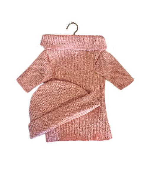 """Ensemble """"Elise"""" rose en coton bio pour poupée - Minikane"""