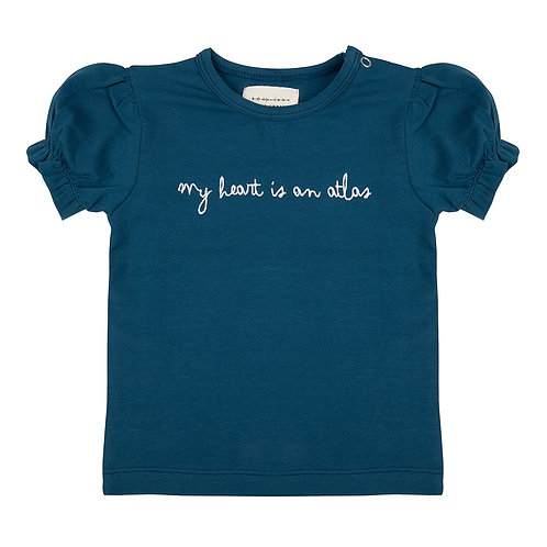 "T-shirt ""My heart is an Atlas"" - Little Indians"