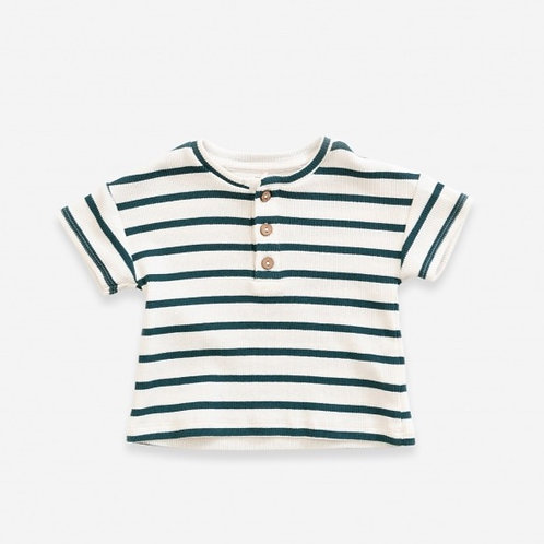 T-shirt rayé manches courtes - 100% coton bio - Play Up