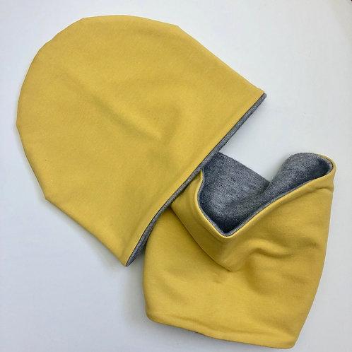 Set bonnet doublé pour l'hiver + Snood - UL&Ka