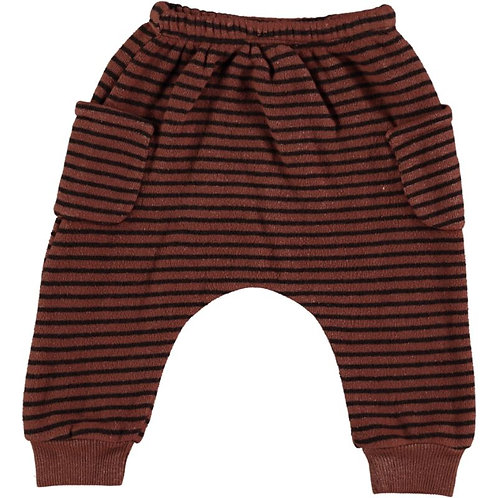 Pantalon rayé 100% coton bio - Bean's Barcelona