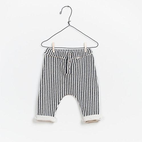 Pantalon ligné retroussé aux chevilles - Play Up