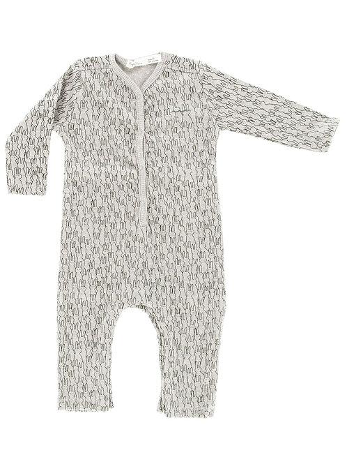 Pyjama sans pieds imprimé lapins - Riffle Amsterdam