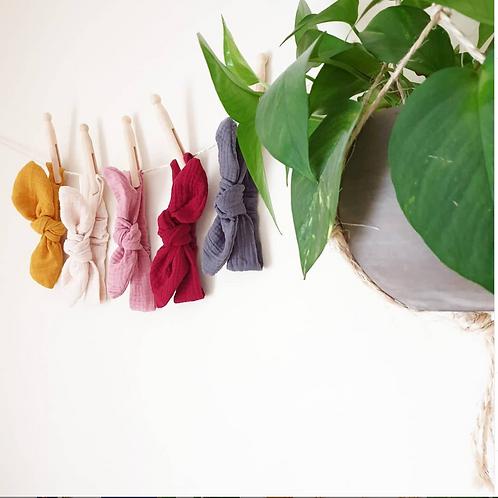 Bandeau pour cheveux en gaze de coton bio - Pom'Chou
