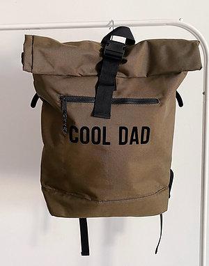Sac à dos en polyester recyclé 'Cool Dad' kaki