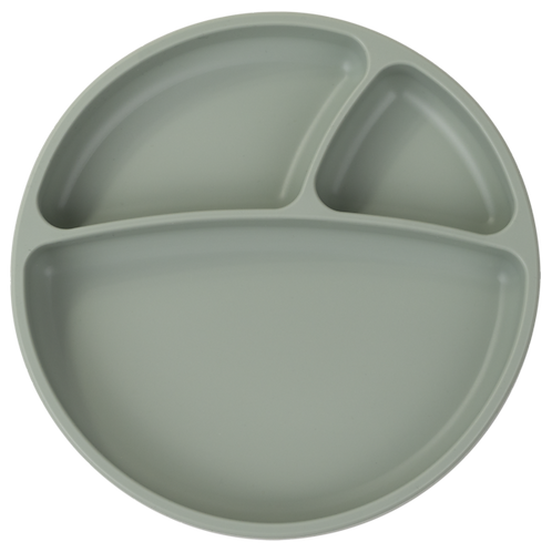 Assiette ventouse en silicone river green - Minikoioi