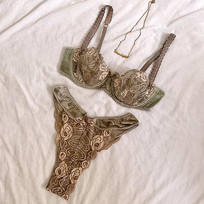 Rare ❘ Aventurine ❘ French luxury lingerie set