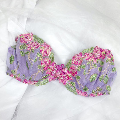 Dreamy floral lilac french bra