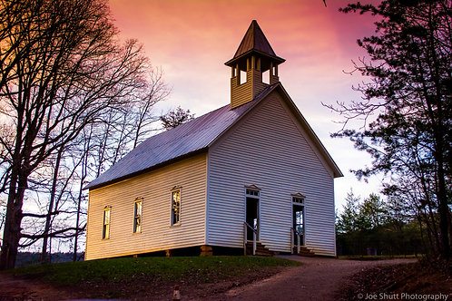 Cades Cove Church Aluminum Print