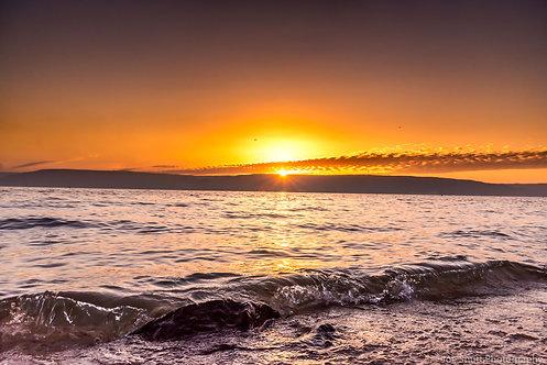 Sea of Galilee Sunrise Aluminum Print