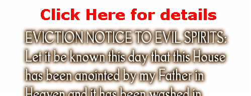 Eviction Notice To Evil Spirits