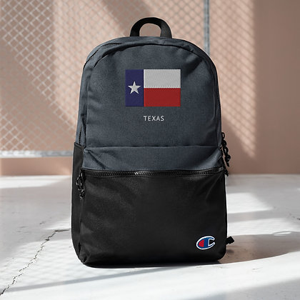 Champion Embroidered Champion Backpack Texas Flag
