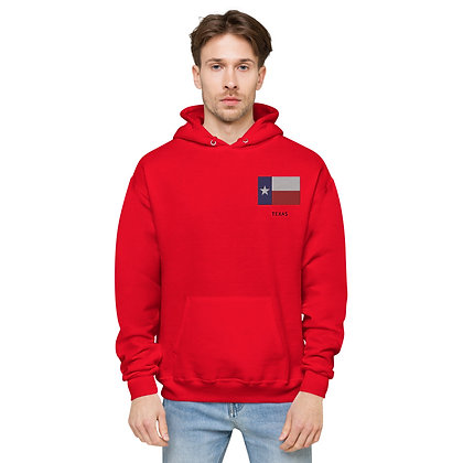 Unisex fleece hoodie Texas Flag