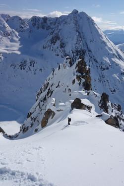Yukon big mountain skiing