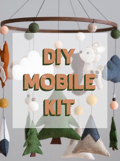 DIY WOODLAND MOBILE KIT | BOHO ANIMALS