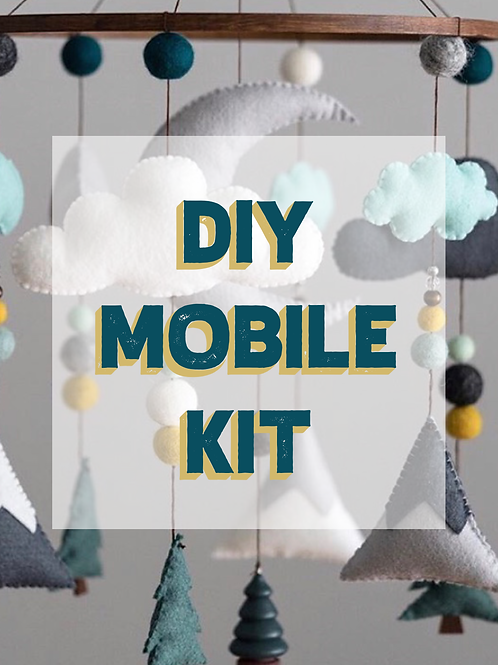 DIY WOODLAND MOBILE KIT | TEAL MINT MUSTARD
