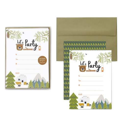 Party Invitations | Little Camper
