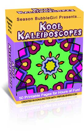 Kool Kaleidescopes Coloring Book