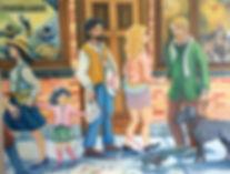 Bonjour Monsieur Courbet - La rencontre. Une réinterprétation de la célèbre toile.