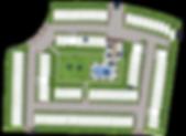 Plano de distribución de casas en San Miguel Allende