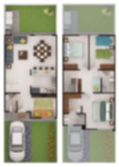 casas muestra nogal