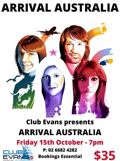Arrival Australia - -ABBA Tribute Show