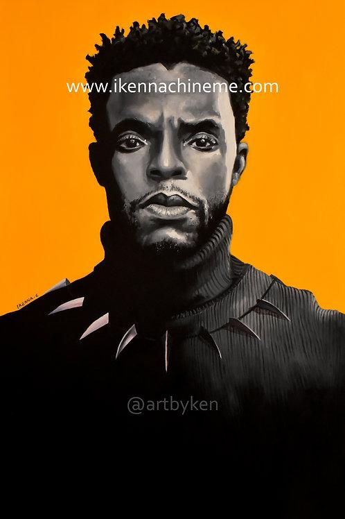 Chadwick Boseman Original art