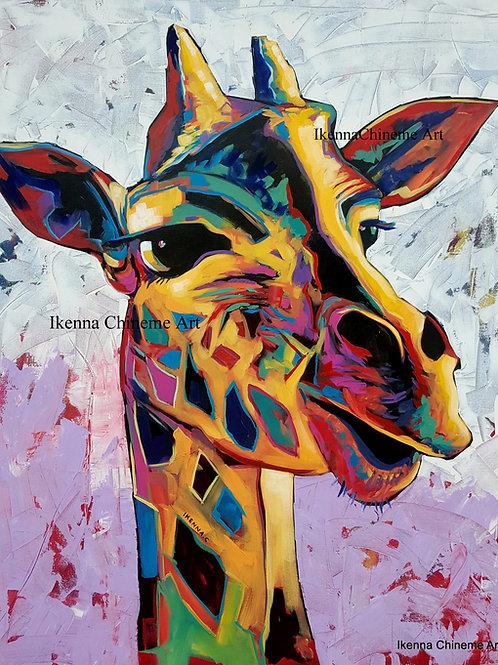 Peekaboo Giraffe (Prints)