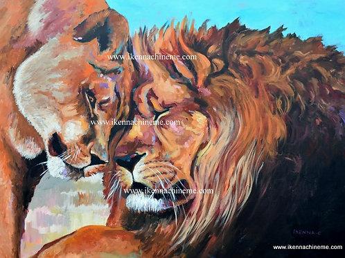 Lion & Lioness (Prints)