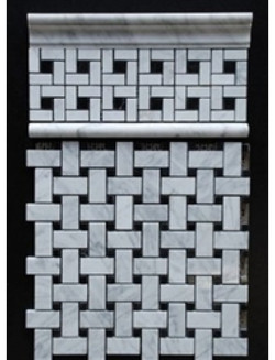 White+Black Basketweave