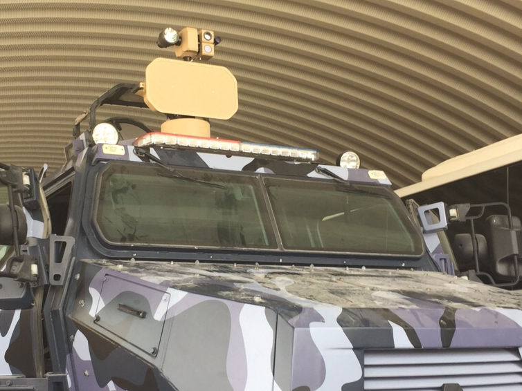STORM 300 on personnel carrier
