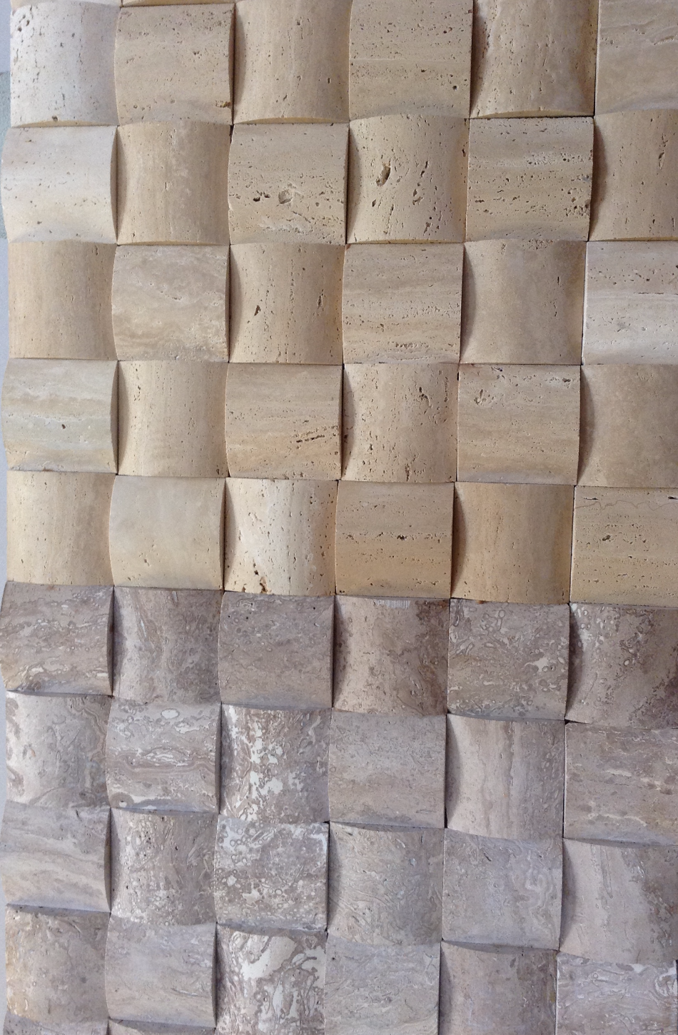Travertine rounds - Cream & Noce