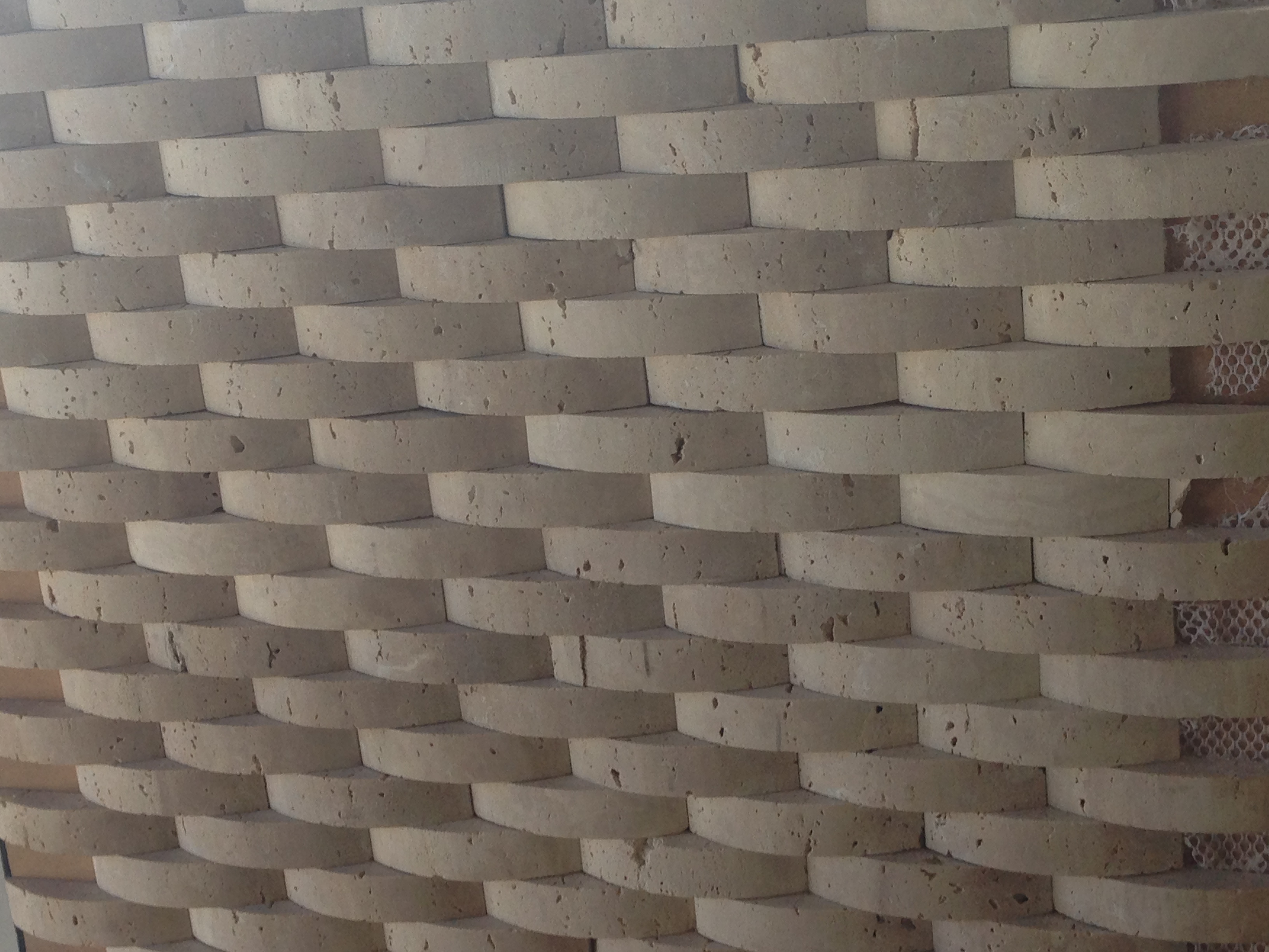 Half Round Travertine Strip Mosaics