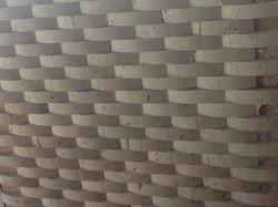 Half Round Travertine Strip Mosaics